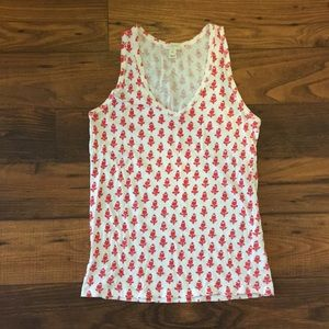 J. Crew Red and White Tank